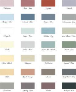 Maison Blanche La Craie Color Chart - $38.95 One quart paints up to three large pieces of furniture!