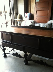 Antique Buffet After Maison Blanche La Craie in Wrought Iron